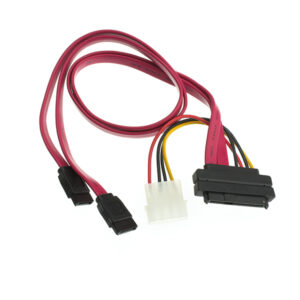 Serial ATA / SAS cable - 2-Lane - 4 pin internal power, 29 pin internal SAS - 7 pin Serial ATA - 3.3 ft